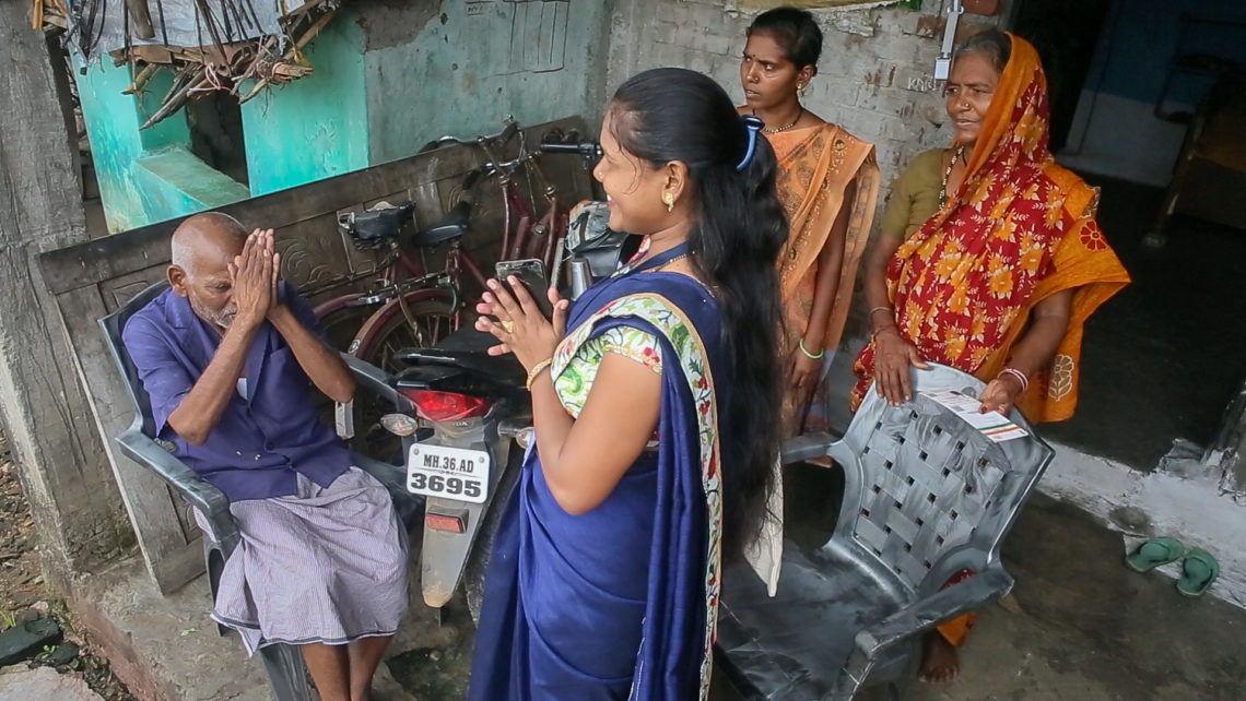 Grameen Community Agents perform financial services at people's door steps