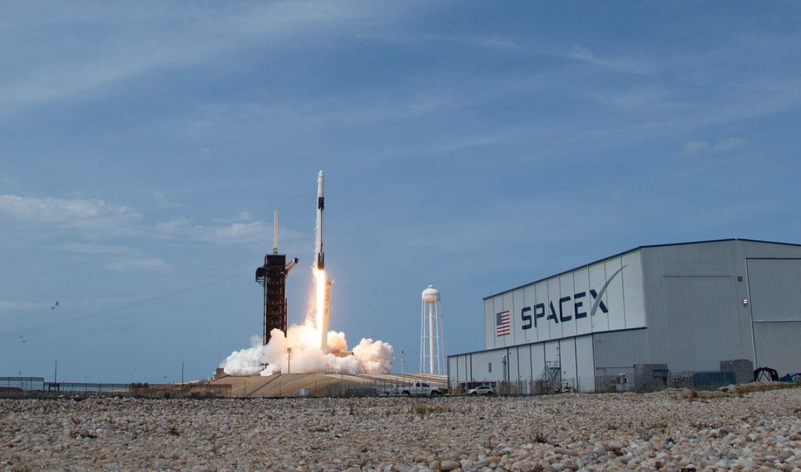 A SpaceX Falcon 9 rocket carrying the company's Crew Dragon spacecraft is launched from Launch Complex 39A on NASA's SpaceX Demo-2 mission to the International Space Station. Credit: NASA/Bill Engalls https://www.flickr.com/photos/nasahqphoto/49953858346