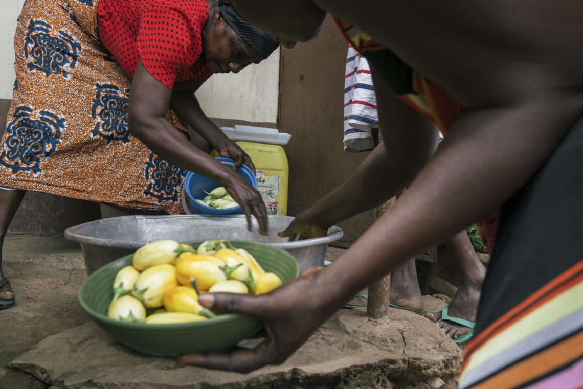 Grace Gyasi Preparing Food