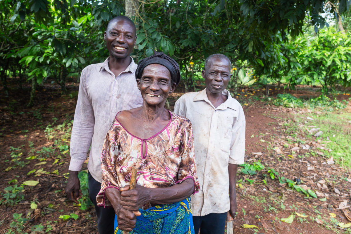 Nana Yaw with his mother and son