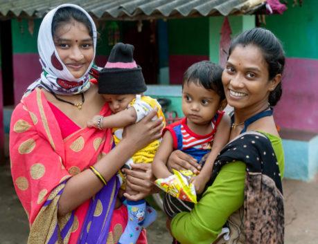 Komal Madhur with children