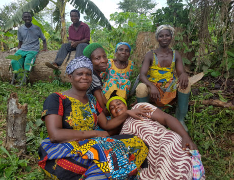 African women smiling