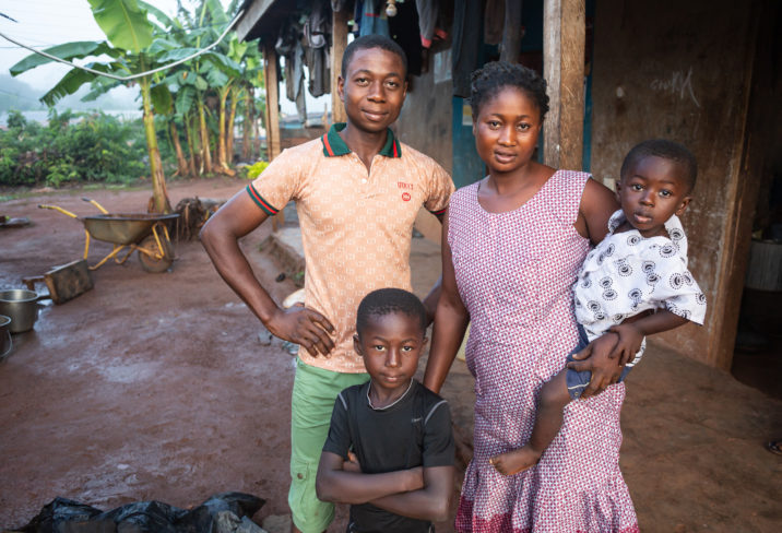 Nana Yaw Cocoa Farmer and family