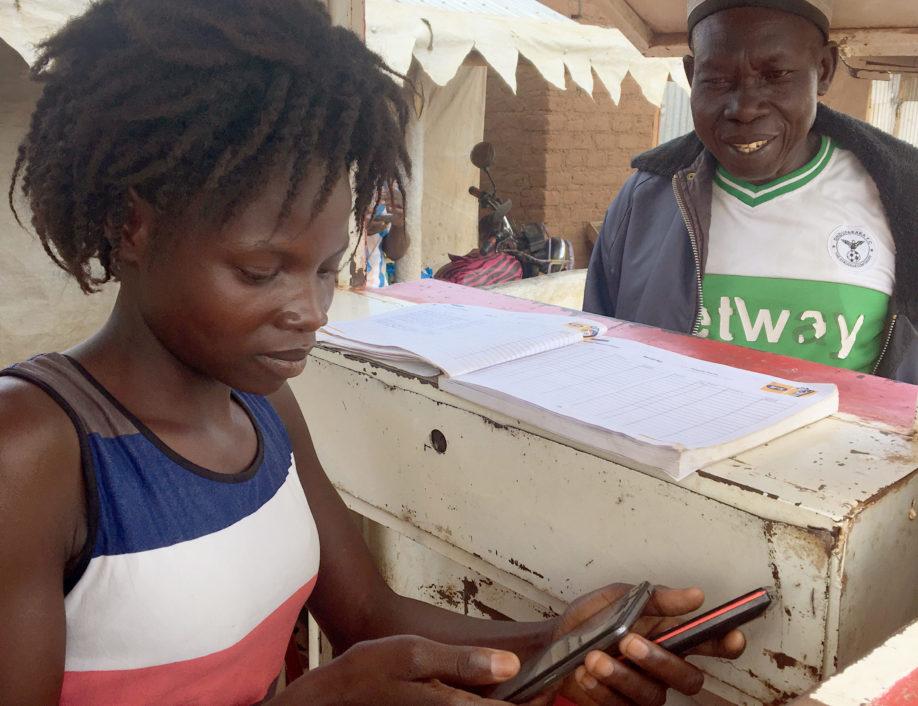 Bidi Bidi Entrepreneur helping customer