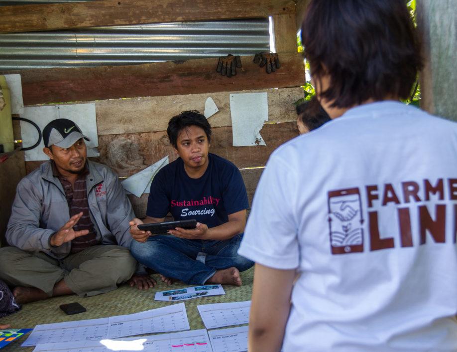 Farmer Link Community Agent training two farmers