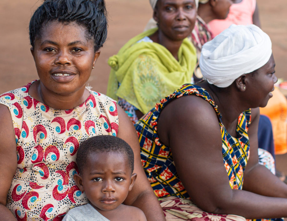 Ghana mother and child during meeting